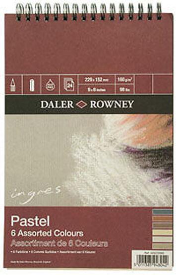 "Daler Rowney Ingres Pastel Pad Assorted Colour 12"" x 9"""