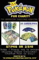 Pokemon cards for charity