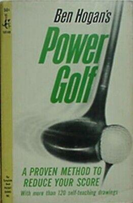 BEN HOGAN POWER GOLF, 1965 BOOK (MORE THAN 120 SELF-TEACHING DRAWINGS