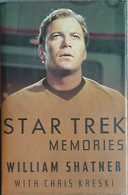 WILLIAM SHATNER (CAPTAIN KIRK) STAR TREK MEMORIES, 1993 BOOK