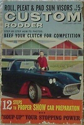 1962 CUSTOM RODDER MAGAZINE (1958 T-BIRD CVR