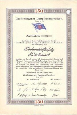 Greifenhagener Dampfschiffsreederei GmbH, Greifenhagen  1928