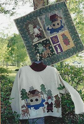 PATTERN Primitive Noahs Ark Wall Quilt & Sweatshirt UNCUT OOP Sew Crafty