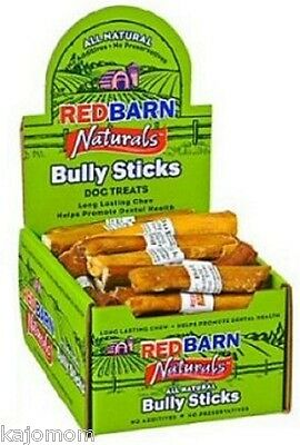 "15 FRESH RedBarn Naturals 5"" BULLY STICKS Dog Chews Treats Dental Grass Fed Tags"
