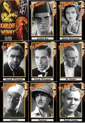 The Mummy 1932 movie trading cards. Classic Horror Boris Karloff
