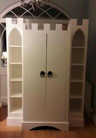 Bespoke Handmade Castle Wardrobe and Headboard