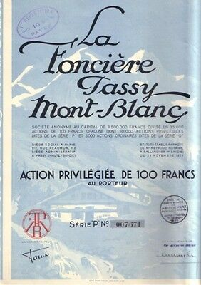La Fonciere Tassy Mont - Blanc 1928