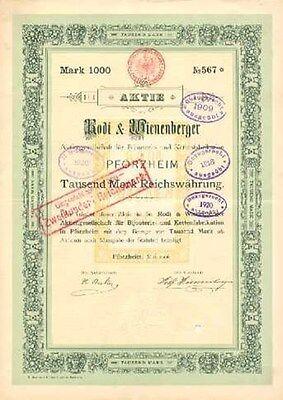 Rodi & Wienenberger AG für Bijouterie u. Kettenfabrikation 1906 Pforzheim