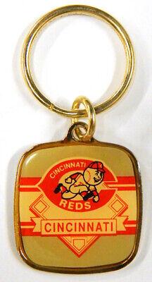 1990 Wincraft Cincinnati Reds Team Logo Key Chain ~ Mr. Red