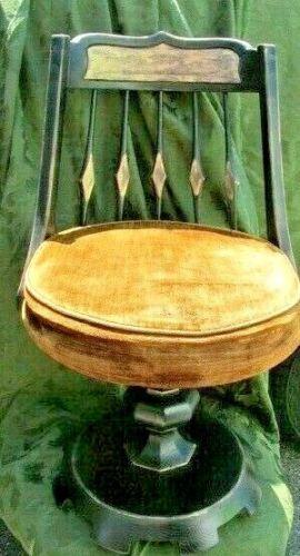 Very Rare Vintage Enkeboll 1970 Era Decorative Wood Swivel Chair