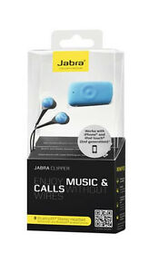 OEM JABRA CLIPPER STEREO BLUETOOTH EARPHONES HEADSET HEADPHONES WIRELESS BLUE