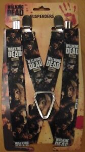 Walking Dead Suspenders - One Size Fits All - Brand New
