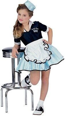50s Costume For Girls (Car Hop Costume Girls Childs 50s 50'S Sock Waitress Dress Poodle Skirt - Fast)