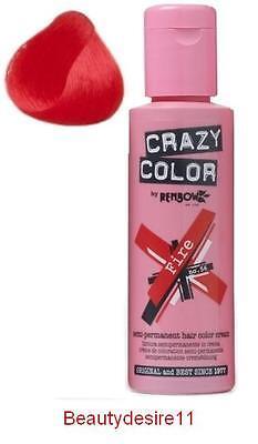 Crazy Colour Semipermanent Haarfärbemittel 100ml Feuerrot 56
