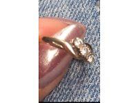 Genuine diamonds 9ct gold ring size N