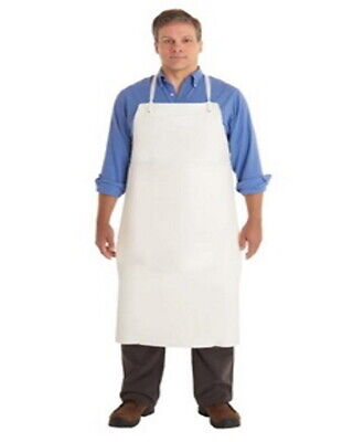 New 4 Count Ansell Cpp 56-103 White Vinyl Chemical-resistant Apron - 33 In