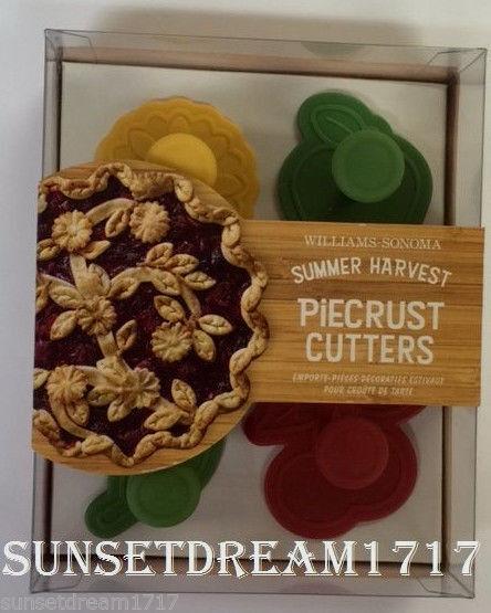 Williams-Sonoma Summer Harvest Piecrust Cutters - Set Of 4