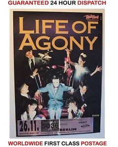 Life of Agony - Original Concert Tour Poster