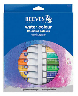 Reeves Watercolour 24 x 10ml Artist Paint Tube Box Set. Perfect Introduction Set