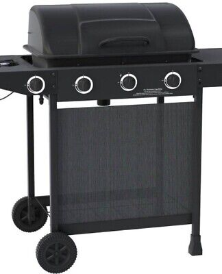Gas BBQ Home Grill 3 Burner Gas BBQ with Side Burner