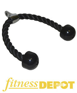 FITNESS DEPOT Tricep Rope - Plastic Ends CATRICEPROPE