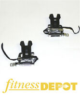 """FITNESS DEPOT Pedals - 9/16"""" with Toe Clips (Pair) BPPED916CLIP"""