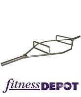 """Fitness Depot 86"""" Chrome Olympic Hex Bar Barbell BBOHEX86"""