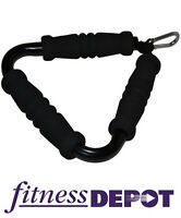 FITNESS DEPOT Triangle Cable Handle with Foam Grips CACHBTFG