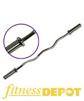 Fitness Depot Olympic E-Z EZ Curl Bar Barbell - Chrome BBOEZC