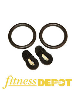 Fitness Depot Gym Gymnastic Rings with Straps CTRINGS