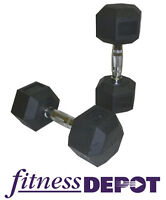 TKO Rubber Coated Hex Dumbbell Dumbbells Free Weights DBHR