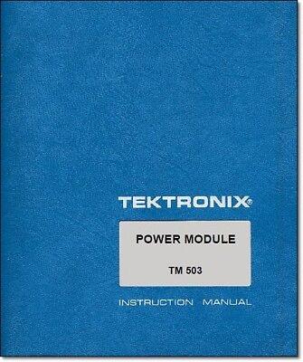 Tektronix Tm 503 Instruction Manual W 11x17 Foldouts Protective Covers