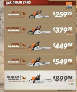 2018 Stihl Fall Dealer Days Chainsaw Sale