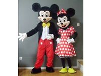 Mickey & Minnie Mouse for hire for kids parties