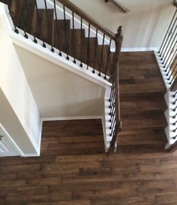 Stairs recapping & hardwood floor installation