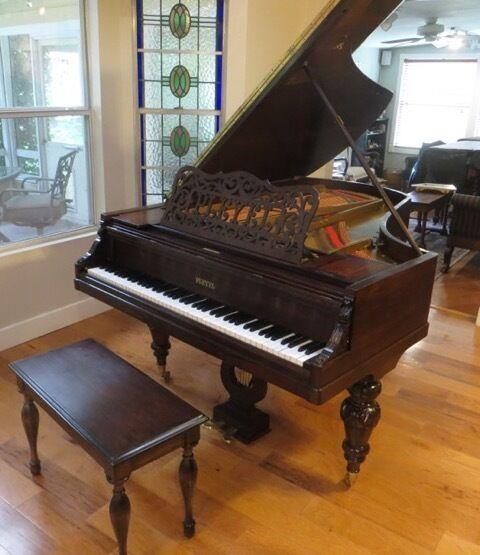 Beautifully Restored Pleyel 1900 Brazilian Rosewood Grand Piano