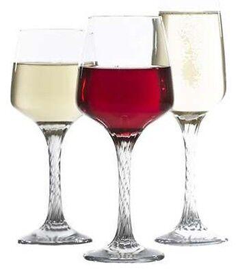 Geschenkbox 18 Teile Rotwein, Weiß Weinrot, Sektflöte Set Mit Georgianisch Stiel