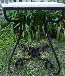 Travertine and Wrought Iron Plant Stand Mosman Mosman Area Preview