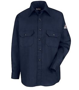 Bulwark Flame Resistant Men's Uniform Shirt - 6 oz - HRC2 -FSESLU8