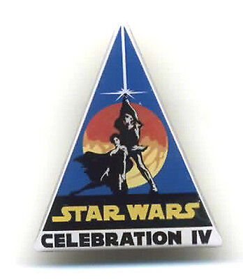 "Star Wars Celebration 4 Logo Enamel 1.5"" Metal Pin- FREE S&H (SWPI-20)"