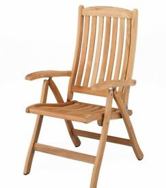 Kettler SOLID WOOD Steamer garden chair BRAND NEW BUT NEEDS A JOINERS REPAIR
