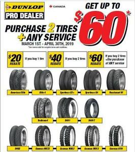 Dunlop Motorcycle Tires Rebates and the Best Prices!