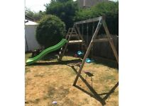 Dunster House Slide/Swings and climbing frame Set
