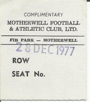 77/78 Scottish Premier Reserve League Motherwell v Celtic