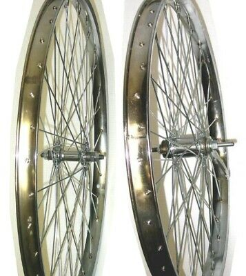 "26/"" FRONT Mach MX Black Eyeletted Rim Joytech Disc Front Bike Wheel Black Spokes"