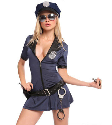 Sexy Women Police Cosplay Costume Jumpsuit Halloween Outfit Female Cop - Female Cop Outfit