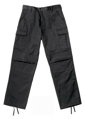 Rothco 2971 Relaxed Fit Black Zipper Fly BDU Pants