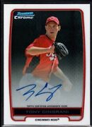 Tony Cingrani Bowman Chrome Auto