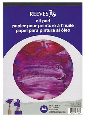 Reeves Artists Oil Painting Paper Pad - 190gsm - 15 Sheets - A3