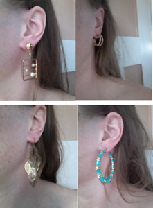 Full collection of vintage and costume earrings (19 pairs)